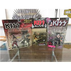 """3 """"Kiss"""" Action Figures by McFarlane"""