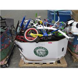 Skid of Assorted Children's Bikes & Parts