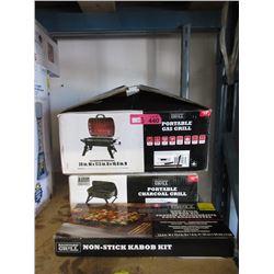 Kabob Kit & 2 Portable Grills - Store Returns