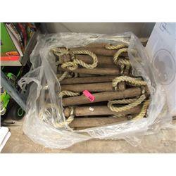 Wood & Rope Marine Ladder