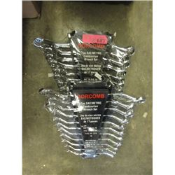 2 New 11 Piece SAE/Metric Combination Wrench Sets