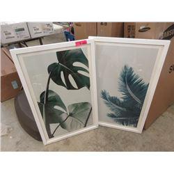 2 Framed Wall Art - Plant Foliage