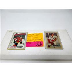 1976/77 Bobby Orr & 1953/54 Jack Stoddard Cards