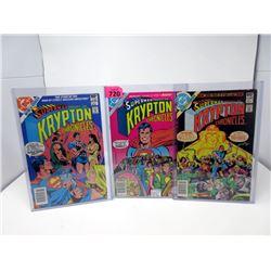 "1981 ""Superman/Krypton"" #1 - #3  DC Comics Set"