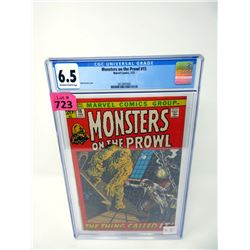 """Graded 1972 """"Monsters on the Prowl #15"""" Marvel Comic"""
