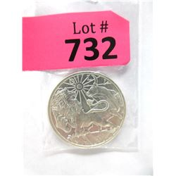 """1 Troy Oz. Fine Silver """"Lion and Bull"""" Round"""
