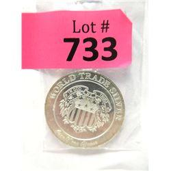 "1 Troy Oz. .999 Fine Silver ""World Trade"" Round"
