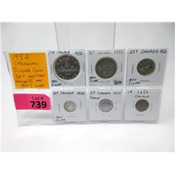 1952 Canadian .800 Silver Coin Set