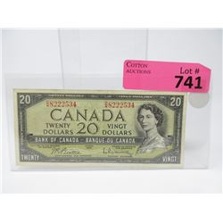 1954 Canadian $20 Bill