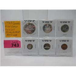 1963 Canadian High Grade .800 Silver Coin Set