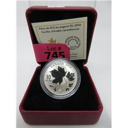 2016 Canadian .9999 Fine Silver Maple Leaf $10 Coin