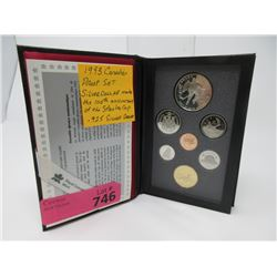 1993 Canadian Proof Coin set with Stanley Cup $1