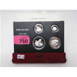 2005 Canadian Fine Silver Canadian Lynx Coin Set