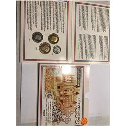Very Rare 1991 LETZEBUERG 4 Coin Set in Original Package