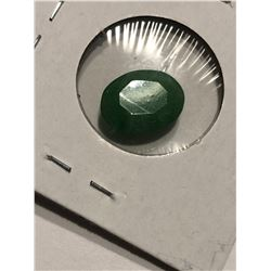 Rare HUGE 6.85 Carat EMERALD Oval Cut Tested Natural