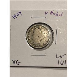 1910 Liberty Head V Nickel Very Good Grade Nice Early US Coin