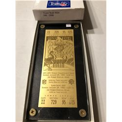 Extremely Rare Limited Edtion 286 of 2500 Gold Super Bowl XXIX Ticket in Original Box