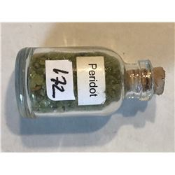 Glass Jar Filled with GREEN PERiDOTS Gemstones 25 Grams