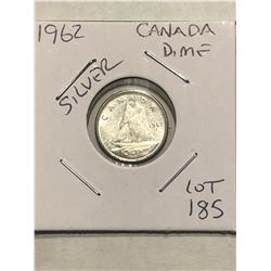 1962 Canadian Silver Dime Nice Early Silver Coin