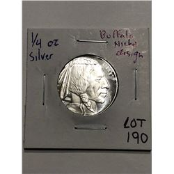 Buffalo Chief Silver Bullion Coin 1/4oz 999 Fine Silver