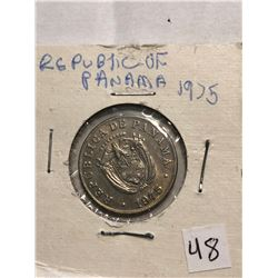 1975 Republic of Panama 5 Cents Coin in MS High Grade