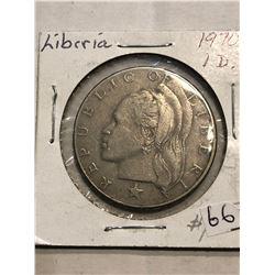 1970 Liberia One Dollar Coin