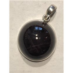 Extremely Rare HUGE STAR RUBY and Sterling Silver Pendant 14.6 Grams Total Weight