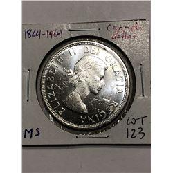 Beautiful 1961 Silver Canada Dollar BU MS High Grade