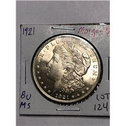Beautiful 1921 P Silver Morgan Dollar BU MS High Grade