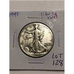 1941 Walking Silver Liberty Half Dollar Nice Early US Coin