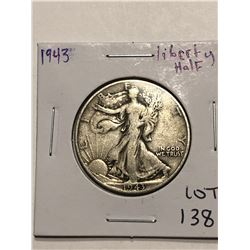 1943 Walking Silver Liberty Half Dollar Nice Early US Coin