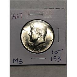 Beautiful 1967 MS High Grade Silver Kennedy Half Dollar
