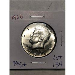 Beautiful 1966 MS  High Grade Silver Kennedy Half Dollar