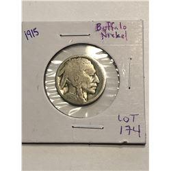 1915 Early Buffalo Head Nickel Nice US Coin
