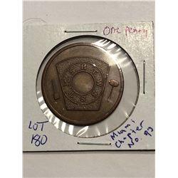 Rare Masonic One Penny Miami Chapter 93