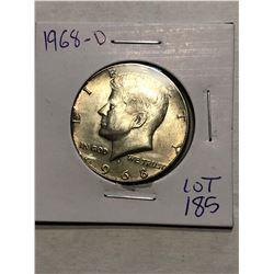 Very Nice 1968 D MS High Grade Silver Kennedy Half Dollar