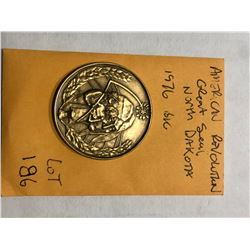 1976 American Revolution Great Seal of North Dakota Coin