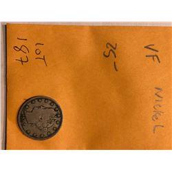 Nice 1907 Very Fine Full Liberty Head V Nickel
