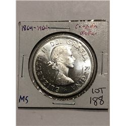 Very Nice 1964 Silver Canadian Dollar BU MS High Grade