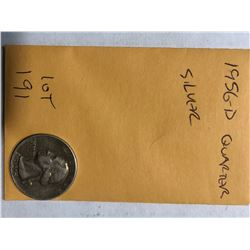 1956 D Washington Silver Quarter