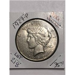 Semi Key Date 1927 P Silver Peace Dollar Rare Nice Early US Coin