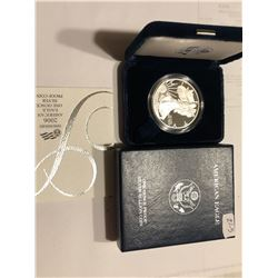 2006 W West Point Proof Silver Eagle in Original Box with Paperwork