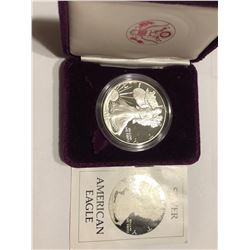1st Year 1986 S Proof Silver Eagle with Paperwork no box