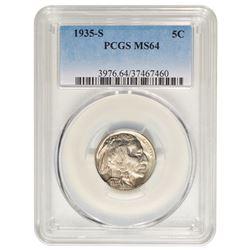 1935-S Buffalo Nickel PCGS MS64