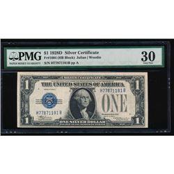 1928D $1 Silver Certificate PMG 30