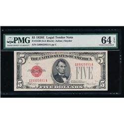 1928E $5 Legal Tender Note PMG 64EPQ
