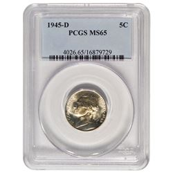1945-D Jefferson Nickel PCGS MS65