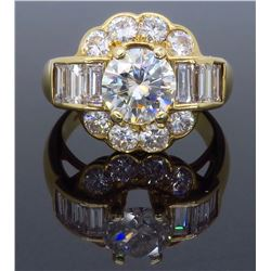 14KT Yellow Gold 2.20ctw Diamond Ring