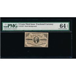 3 Cent Third Issue Fractional Note PMG 64EPQ