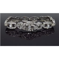 14KT White Gold 5.00ctw Diamond Bracelet